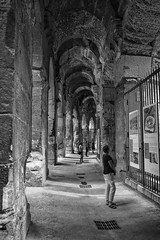 Arena Nimes (AWe63) Tags: amphitheater arena theater roman römer römischeruinen antik nimes südfrankreich provence france frankreich pentax pentaxk1mkii luminar4 luminar madewithluminar andreasweyermann cawe63 blackwhite schwarzweiss bw