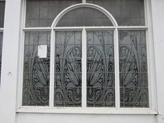 Former Pub Window (LookaroundAnne) Tags: window frosted design twoneckedswan closed former pub publichouse greatyarmouth yarmouth norfolk
