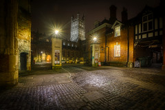 Cobbled together (shadowed eyes) Tags: gloucester gloucestercathedral cobbledstreet church hdr 5xp d7100