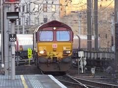 66164 passes Newcastle (22/1/20) (*ECMLexpress*) Tags: ews db cargo 66 freight locomotive 66164 newcastle central ecml