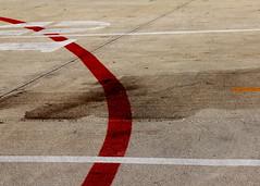 Parking lines (Noel C. Hankamer) Tags: lines parking lot stripes minimalism red