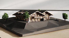 DOMAINE DU ROC CHALETS, Switzerland (ONEOFF) Tags: oneoff italy milano arch architettura design digital fabrication model maker architecture architectural maquette plastico fresatura cnc milling taglio laser cut rapid prototyping prototipazione rapida stampa 3d printing mdf metacrilato methacrylate nylon texture raster alberi verde trees green verniciatura verniciato painting painted backpainted retroverniciato lighting backlighting illuminazione retroilluminazione domaine du roc chalets switzerland villars 175
