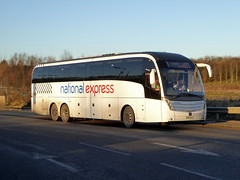 Photo of 7132 / BX16 CLU - Volvo B11RT / Caetano Levante 2 - Go North East / National Express - Milton Keynes Coachway 19Jan20