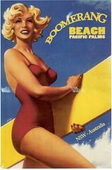 Postcrossing BE-673347 (booboo_babies) Tags: vintage beach advertisement australia retro woman bathingsuit swimmingsuit surfing nsw boomerangbeach postcrossing