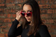 Studio 58. Alice. (CAR TREV) Tags: flash a6500 lens hair black godoxv860 studio headshot 2020 uk godox light sunglasses red 50mm sigma56mm14 model portrait sigma sony