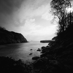 I saw a ship (Christopher M Hight) Tags: zero 2000 pinhole ilford panf50 120 6x6 pembrokeshire wales