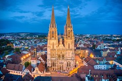 Regensburg Cathedral (Brook-Ward) Tags: hdr drone aerial regensburg germany cathedral church temple regilion town city cityscape landscape travel vacation holiday architecture building