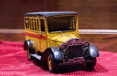 Yellow Bus (billraftery) Tags: antique toys bus old