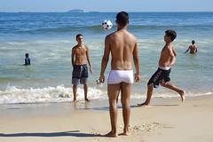 Copacabana beach (alobos life) Tags: copacabana happy players ball nice beautiful cute brazilians boys garotos rio de janeiro brasil brazil beach playa mar sea sunga