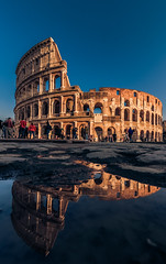 Colosseum, Rome. (Vagelis Pikoulas) Tags: colosseum rome roma italy europe travel holidays tokina 1628mm canon 6d winter january 2020 reflection reflections rain blue sky day architecture archaelogical