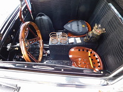 "1927 Ford Model T Coupe ""King T"" (splattergraphics) Tags: 1927 ford modelt coupe kingt interior hotrod customcar carshow chesapeakecitylionsclub chesapeakecitymd"