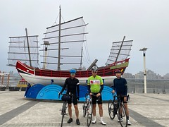 台北大稻埕碼頭.除夕一大早的約騎 (nk@flickr) Tags: friend taipei cycling 台北 20200124 taiwan 台湾 bobby 台灣 阿中 iphone11probacktriplecamera425mmf18