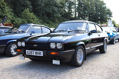 Ford Capri 2.8 Injection A287WHK (Andrew 2.8i) Tags: mk3 mk 3 iii mark liftback hatchback hatch coupe sportscar sports ford capri show uk surrey weybridge track circuit brooklands 50th anniversary v6 cologne 2800 28 special injection a287whk