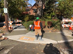 Work on Belmont Ave E and Belmont Pl (Seattle Department of Transportation) Tags: alexsavini sdot seattledepartmentoftransportation construction belmont orange cone pavement