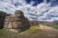 Sacsayhuamán's gigantic walls (marko.erman) Tags: sacsayhuamán peru cuzco fortress inca city pov history tupac pachacuti panoramic panorama sony travel outside outdoor monument destroyed fortified sunny cloudy impressive stones megalithic terrace walls giant latin latinamerica southamerica wideangle gigantic