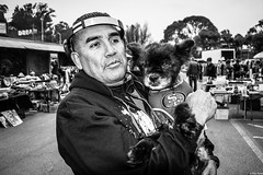 JulioAusejo 1.jpg (Dan Ryan's Works) Tags: alemanyboulevard alemanyboulevardsf alemanyfleamarket sanfrancisco sanfranciscoca sanfranciscocalifornia sanfranciscostreetphotography sanfranciscostreetphotos blackandwhite blackandwhitephotography dogphotography dogphotos dogs monochrome monochromephotography streetlife streetphotography streetphotos