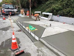 Concrete work on Green Lake Way N. & N. 48th St (Seattle Department of Transportation) Tags: alexsavini sdot seattledepartmentoftransportation concrete construction greenlakeway 48th orange cones street