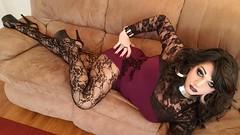 Purple & Lace (therealdavinawayne74) Tags: boi boytogirl crossdressing crossdresser crossdress crossdressed dragqueen drag dragmakeup feminized femme gurl hosiery highheels makeup minidress maletofemale m2f nylons pantyhose platforms platformheels stilettoheels transvestite tgirl tights tranny