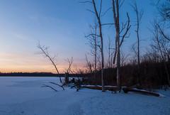 Sunset at Sugarloaf Lake (bill.d) Tags: dji djimavicpro kalamazoocounty michigan portage sugarloaflake us unitedstates aerialphotography drone flying goldenhour landscape outdoor snow sunset winter