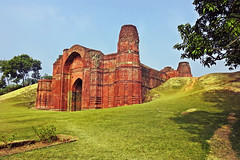 Dakhil Darwaza !! (Lopamudra !) Tags: lopamudra lopamudrabarman lopa landscape gour gaur malda westbengal dakhildarwaza sultanate islamic structure fort ruralbengal bengal india colour color colours colourful history historical archaeological architecture building beauty beautiful