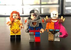 DC figs 69 (Colbsfigs) Tags: lego dc comics custom minifigure cmf series giganta cyborg superman metamorpho colbyfigcustoms