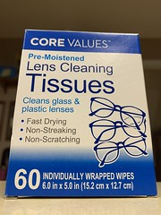 Core Values (_BuBBy_) Tags: core values not moistened but premoistened lens cleaning tissues individually wrapped wipe wipes
