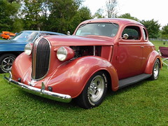 1938 Plymouth Coupe (splattergraphics) Tags: 1938 plymouth coupe hotrod customcar mopar carshow wheelsoftimejamboree macungiememorialpark macungiepa