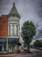 Store in the Reading Bridal District (donnieking1811) Tags: ohio reading cincinnati bridalstore store architecture building exterior outdoors trees sky clouds cars streets hdr canon 60d lightroom photomatixpro