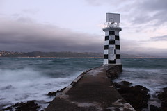A storm is rising (neil.bather) Tags: storm dawn sunrise wind waves wellington lighthouse new zealand
