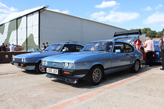 Ford Capri 2.8 Injection A300JER (Andrew 2.8i) Tags: mk3 mk 3 iii mark liftback hatchback hatch coupe sportscar sports ford capri show uk surrey weybridge track circuit brooklands 50th anniversary v6 cologne 2800 28 special injection a300jer