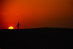 Glimpse of Sunset in Dubai's Desert (kritikapanse765) Tags: explore dubai exploredubai desertsafaridubai travel tourism sunsetindubai eveningsafariindubai