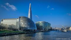 London, United Kingdom: City Hall along the Thames River (nabobswims) Tags: cityhall england gb greatbritain hdr highdynamicrange ilce6000 lightroom london mirrorless nabob nabobswims photomatix sel18105g sonya6000 thamesriver theshard uk unitedkingdom