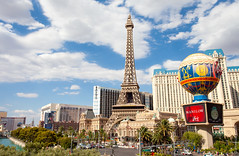Eiffel Tower at Paris Las Vegas (thedot_ru) Tags: eiffeltower day clouds sunny outdoors outside strip thestrip casinos france french themepark paris lasvegas nevada travel travelling travels trip tour tourist tourism adventure wanderlust unitedstates us usa america canon5d 2010