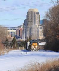 Climb to Plaster (GLC 392) Tags: csx csxt em sd402 q329 grand rapids mi michigan wyoming yard plaster creek 8138 796 es44ah railroad railway train snow down town downtown