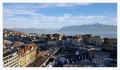 my Lausanne (overthemoon) Tags: switzerland suisse schweiz svizzera romandie vaud lausanne view lake mountains lacléman alps city town buildings urban architecture cityscape
