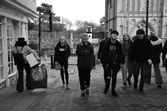The Kids are Alright (Bury Gardener) Tags: suffolk streetphotography street streetcandids snaps strangers candid candids people peoplewatching nikond7200 nikon england eastanglia europe burystedmunds bw blackandwhite britain monochrome mono 2019 abbeygatestreet