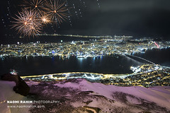 New Years Eve 2020 fireworks over Tromsø, Norway (Naomi Rahim (thanks for 5 million visits)) Tags: tromsø norway 2020 nye newyearseve fireworks city arctic mountains winter snow ice cold water bridge travel travelphotography nikon nikond7200 wanderlust 1116mm
