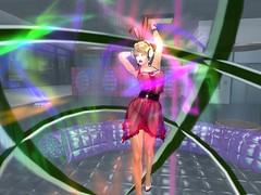 Lights And Latex 2 (Cherie Langer) Tags: dance dancer headphones poledance dollboxes fantasy heels blonde lightshow lasers