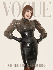The latest Vogue cover girl! (Katrina _Transdoll) Tags: latex rubber cathouseclothing rubber55 transisbeautiful transvesite rubbergloves shiny