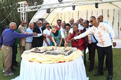 Cake cutting ceremony (International Livestock Research Institute) Tags: award celebration staff addisababa ilri annualstaffparty