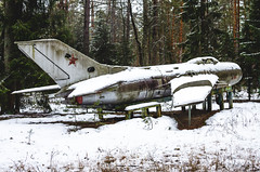 MiG-19 aircraft in an abandoned children's camp (ivan_volchek) Tags: aerodrome aeroplane air airbase aircraft airdrome airfield airplane airport allweather armor armored armour army assault attack aviation demonstration farmer field forces jet martial mig mig17 mig19 military old outdoor plane russia sky soviet space transport union ussr vehicle war weapon