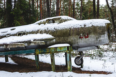 Abandoned old MiG-19 Aircraft with a broken cabin (ivan_volchek) Tags: aerodrome aeroplane air airbase aircraft airdrome airfield airplane airport allweather armor armored armour army assault attack aviation demonstration farmer field forces jet martial mig mig17 mig19 military old outdoor plane russia sky soviet space transport union ussr vehicle war weapon