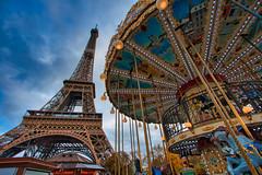 Beautiful Paris (jeromedelaunay_paris) Tags: tower eiffel tour manege clouds sunset sun sky capitale capital cities cityscape city europe france iloveparis parismonamour parisjetaime paris bridge monument