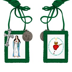 Green Scapular (thegreenscapular10) Tags: fatima green scapular lourdes brown cross immaculate heart our lady mary prayer church sacred catholic necklace the my for sale gifts thegreenscapular greenscapular ladyofmaryprayer