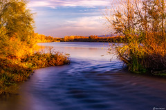 Autumn in January (Ken Mickel) Tags: arizona avondale avondalearizona baseandmeridianstatewildlifearea clouds gilariver kenmickelphotography landscape longexposure longexposurephotography river seasons tresrios nature photography water laveen unitedstatesofamerica