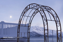 Profil Glassdesign, Kvaløya, Norway (Naomi Rahim (thanks for 5 million visits)) Tags: kvaløya tromsø norway arctic winter 2020 nikon nikond7200 wanderlust travel travelphotography mountains water sea fjord landscape arch sunset twilight dusk pastel