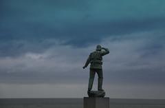 Forever  Vigilant (big_jeff_leo) Tags: uk england english blue sky coastguard statue coast kent