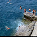 20170711_08 People jumping off concrete jetty in Manarola, Cinque Terre, Italy