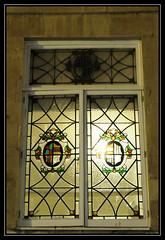 Glass & Stone ... Bath, England (Kernek) Tags: bath gb uk england somerset urban stainedglass