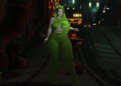 #1783 SchlappOhrStyle (BlogOwner : SchlappOhrStyle) Tags: queenz neon green alien cyber future sash doux maitreya genus antenna swallow curvy